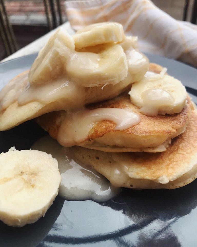 Banános Kókuszpalacsinták