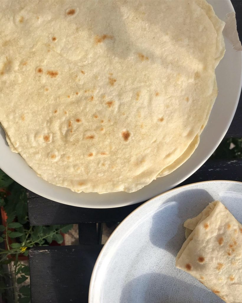 Házi tortilla tészta egyszerűen